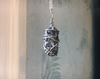 Wire Wrapped Freckled Stone
