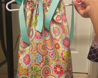 Circle Flower Pinwheel Pillowcase Dress