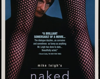 Naked (1993) Vintage Movie Poster - Directed by Mike Leigh - FREE U.S. SHIPPING