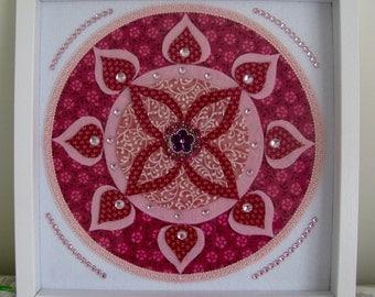 Handcrafted mandala wall art - Pink