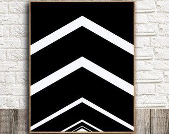 Chevron Art Prints,Black and White Prints,Geometric Art,Chevron Prints,Arrow Prints,Modern Prints,Geometric Poster Art,Geometric Prints