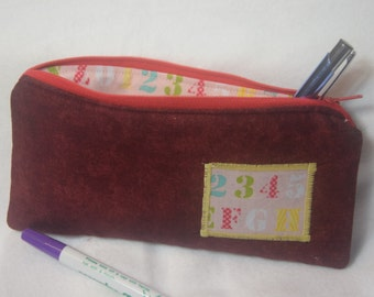 Pen pencil case with zipper