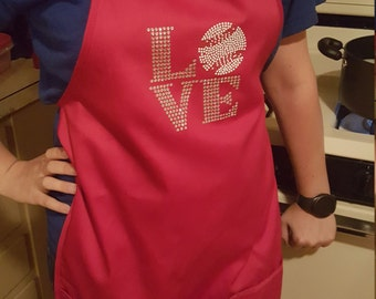 Love Baseball Apron