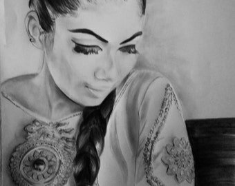 I will draw  a beautiful charcoal portrait for you at a very affordable price, up to 72 hours delivery time.
