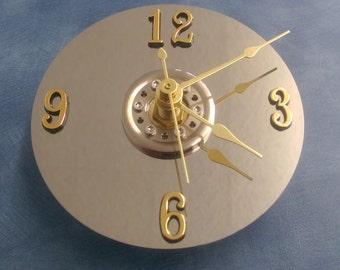 Hard Drive Platter Clock