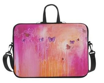 "Kelly-ann's Butterfly's Laptop Bag 14"" or 17"""