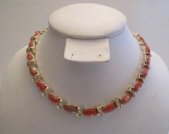 Vintage 1950's/1960's Murano  glass adventurine  necklace