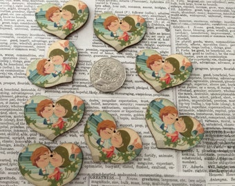 8 Wooden Heart Couple