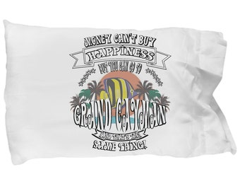 Island-themed GRAND CAYMAN is HAPPINESS Pillow Case
