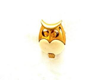 Vintage Brooch Vintage Trifari Owl Pin Crown Trifari Owl Brooch Crown Trifari Pin Owl Jewlery Retro Owl Pin Bird Jewelry Vintage Trifari