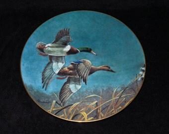 "1990 W.S. George The Federal Duck Stamp ""Mallards"" Collector Plate by Richard Plasschaert"