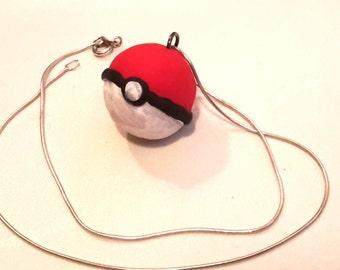 Handmade Pokeball Earring