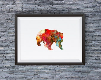 Amazing Bear Print  - Cool Art Poster - Animal Illustration - Wall Art - Home Decor