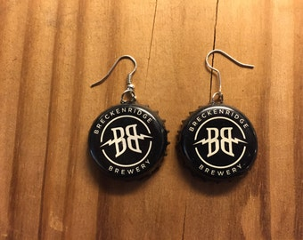 Breckenridge Brewery Bottle Cap Earrings