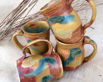 Coffee Mugs Hand thrown Southwest Colors