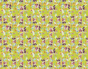 Bittersweet Floral Green, 1 yard fabric by Sue Daley for Riley Blake fabrics