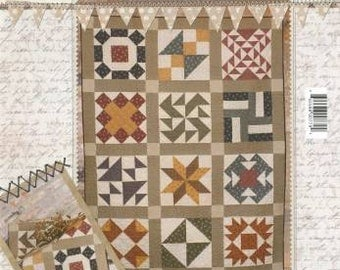 Buttermilk Basin Humble Beginning Quilt Pattern, save 15% when you buy 3 or more patterns with coupon code below
