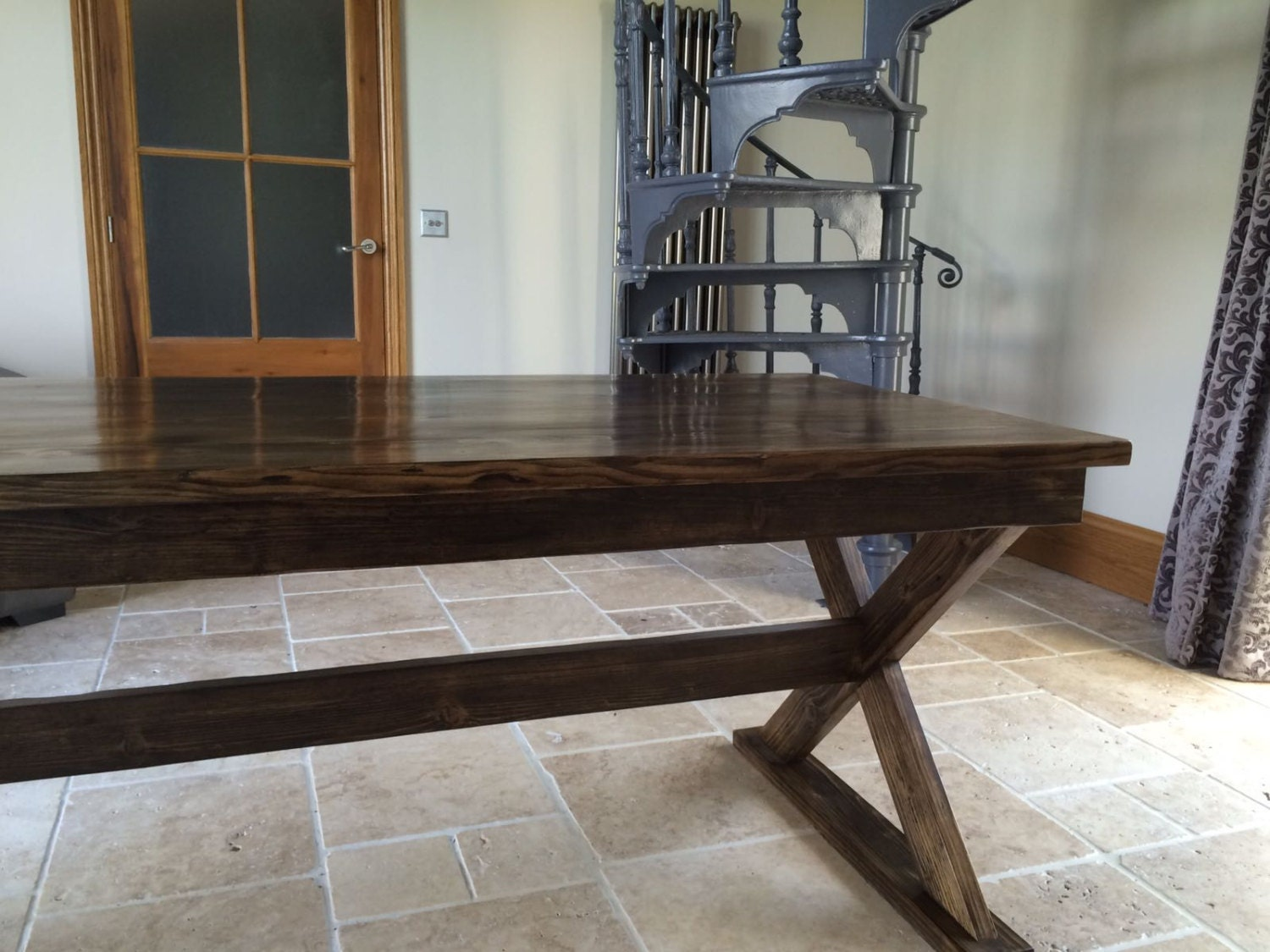 Large Reclaimed Scaffold Dining Table / Rustic Farmhouse Table / Large  Dining Table / Reclaimed Wood Table / Hand Made Reclaimed Wood Table