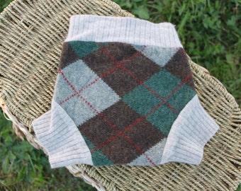 Medium Argyle Wool Soaker