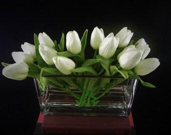 Twenty Real Touch Floral Arrangement, Silk Flowers, Floral Centerpiece,Flowers in Home Decor