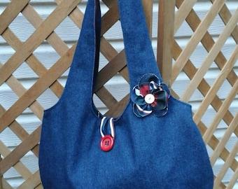 Denim  Reversable  Bag