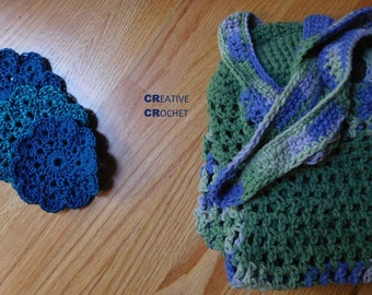 Handmade Green and Purple Bag