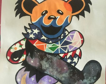 One of a Kind Grateful Dear Bear Painting