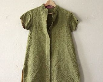 Vintage Indian Kantha Style Button Down Top