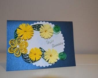 Handmade Quilled Birthday Card!