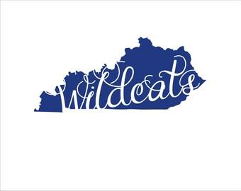 Kentucky state Wildcats car decal