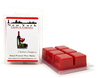 Chilled Sangria Wax Melts -- HIGHLY Fragrant -- New York Candle & Fragrance