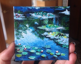 MONET WATERLILLIES (Acrylic Painting)