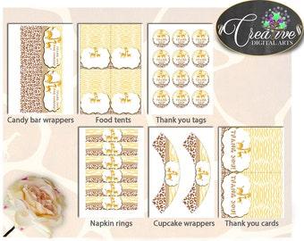 Decorations, Baby Shower Decorations, Giraffe Baby Shower Decorations, Baby Shower Giraffe Decorations Brown Yellow supplies set - sa001