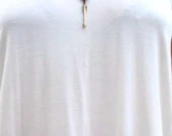 White and gold genuine leather charm necklace