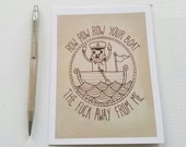 HATE MAIL - Row, Row, Row Your Boat - Anti-Greeting Card - Cards for Her - Cards for Him - Just Because Cards