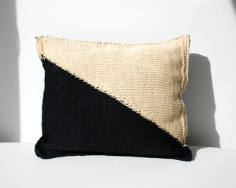 Pillow Hand Knit Merino Wool /Argentina/Handknitted/Patagonia /Decorative Pillow/Design item/ Home Gift