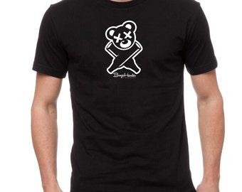 BoozeHarder - Logo t-shirt (White on Black)