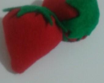 felt strawberrys