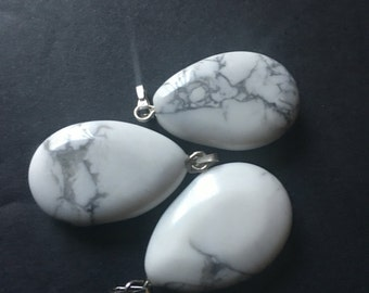 Howlite loose charms