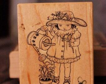 Rubber Stamp: Gardening Girl