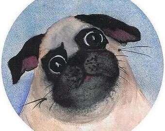Pug Envelope Seals 24 ct