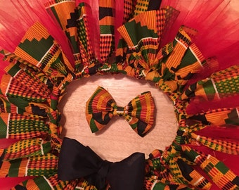 african print tutu, it comes with headband
