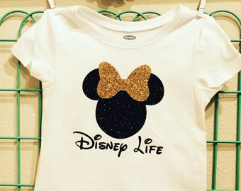 Disney Life, Disneyland, Baby Girl style, Baby Girl T-shirt, Minnie Mouse