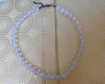 necklace made of natural rock crystal