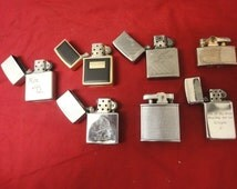 7 assorted cigarette lighters comprising of ronson, zippo etc