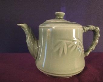Chinese green TEA POT length 16cm    height =10cm