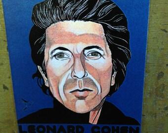 Leonard Cohen Magnet