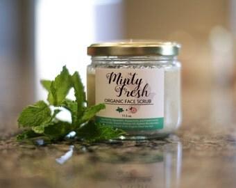 Minty Fresh Organic Face Scrub