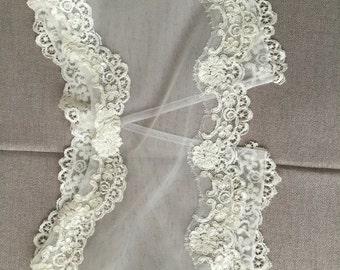 Wedding bridal beaded lace bolero jacket with beads and sequins