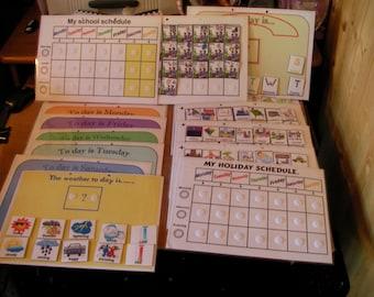 holiday/School/ everyday schedule folder